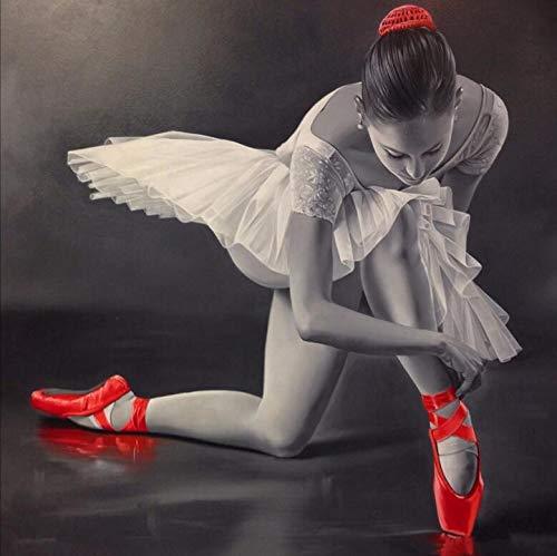 YUMEART Diamond Painting Ballet Dancer 5D Diamond Embroidery Beautiful Dancer Rhinestone Mosaic Cross Stitch Home Living Décor by Yumeart