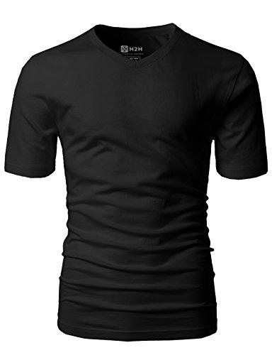 H2H Mens Casual Premium Soft Cotton Short Sleeve T-Shirts