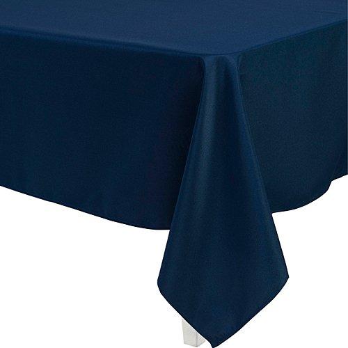 LinenTablecloth 60 x 126-Inch Rectangular Polyester Tablecloth Navy ()