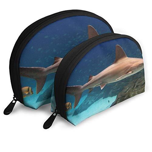 (SUNGTER The Sandbar Shark Multifunctional Portable Cosmetic Bag Storage Bag)
