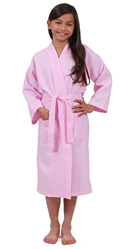 Turkuoise Girls Waffle Robe, Spa Party Bathrobe Made in Turkey