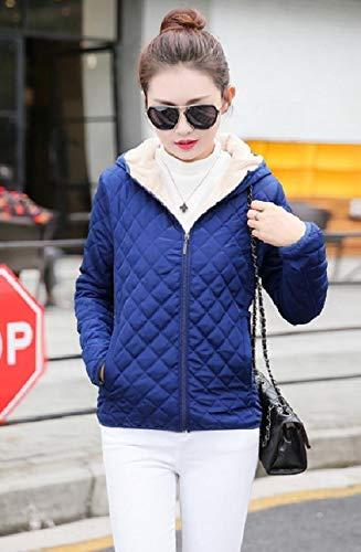 Zip Howme Fleece Slim Women Fitting Velvet Blue Up Slim Plus Coat Fit TI6rgI