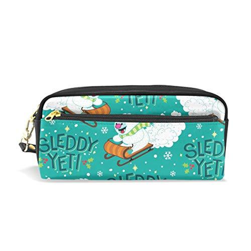 PU Leather Jon Benson Designs Pen Pencil Case Bag Purse Pouch Cosmetic Bag Zipper for School Boy Girl Office Work
