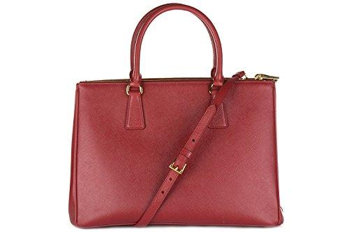 prada leder handtasche damen tasche bag saffiano lux. Black Bedroom Furniture Sets. Home Design Ideas