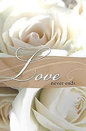 Love Never Ends Wedding Bulletin (Pkg of 50)]()