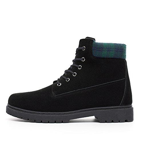 Plain DRKA Industrial Leather Resistant Shoes Men's Boots Construction Sole Water Comfortable Rubber Black922 Work fw0fr