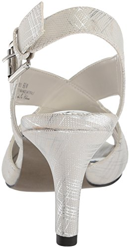 Easy Street Women's Cupid Heeled Sandal White/Silver XikXKK0f