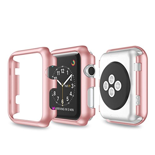 Price comparison product image For Apple Watch Series 1 / 2 42mm,  Gotd Ultra-Slim Electroplate PC Hard Case Cover For Apple Watch Series 1 / 2 42mm (Rose Gold)