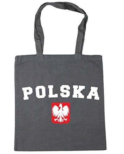 HippoWarehouse polska godlo Tote Compras Bolsa de playa 42cm x38cm, 10litros gris grafito