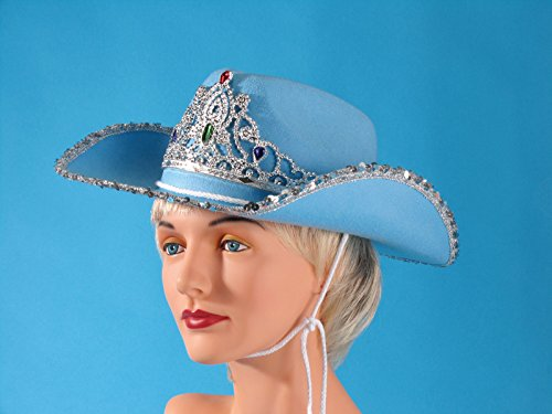 Loftus Rodeo Queen Sequins & Tiara Cowgirl Hat, Blue, One Size -