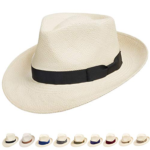 Genuine Havana Retro Panama Straw Hat Classic Lightweight 7 ()