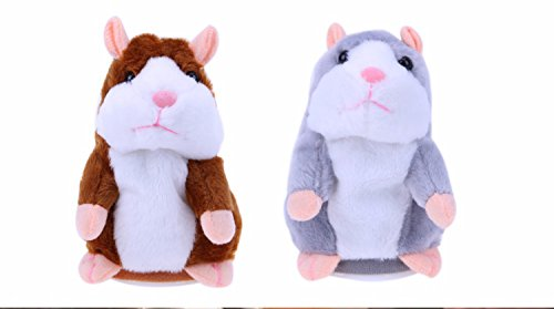 Pretty-magic Talking Hamster Cute Baby Electronic Pets Toys Sound Record,Gray