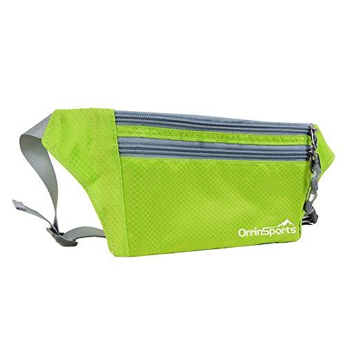 Sports Zipper Waist Belt Bag (Light Green) - 1