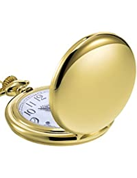 Mudder Classic Smooth Vintage Steel Mens Pocket Watch Xmas Gift (Gold)