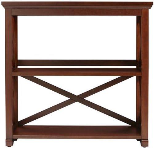 Home Decorators Collection Brexley Two Shelf Bookcase, Short Bookcase, Chestnut