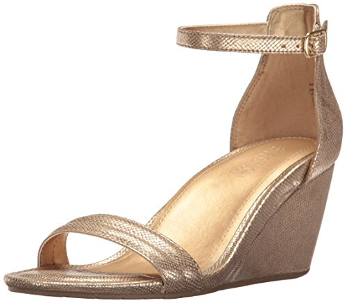 Kenneth Cole REACTION Women's Cake Icing Wedge Sandal, Soft Gold, 9.5 M US by Kenneth Cole REACTION