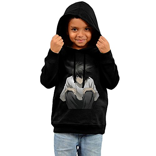 Price comparison product image Toddler Cool Death Note 100% Cotton Long Sleeve Hoodies Black US Size 3 Toddler