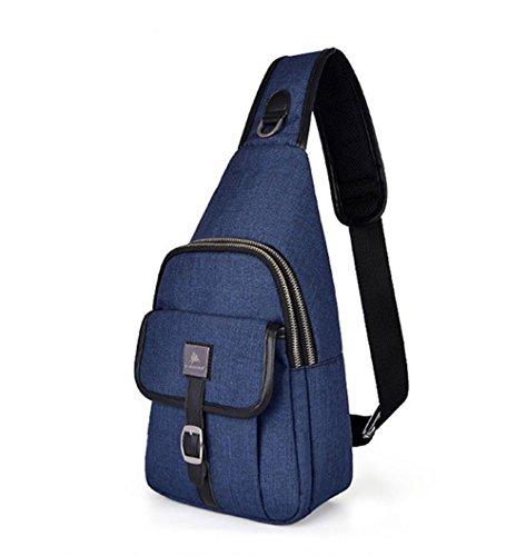 Wewod Bolsa de Hombro de Moda,Bolso de Pecho,Bolsa Crossbody,Chest pack,Mochila Bolsa de Hombro Deportes Trabajo 18 x 33 x 9 cm (L*H*W) Azul marino
