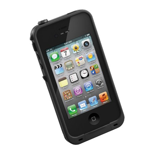 HESGI New Waterproof Shockproof Dirtproof Snowproof Protection Case Cover for Apple Iphone 4 4S Black