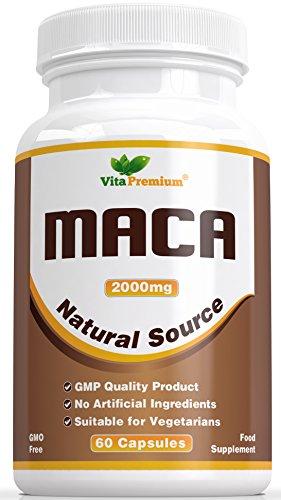 Maca Root 2000 Milligram 60 Veggie Capsules