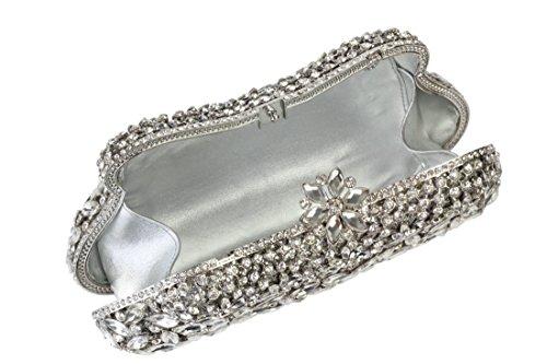 Yilongsheng Poschette giorno donna Argento argento Clásico De Descuento hr8EEfMoD