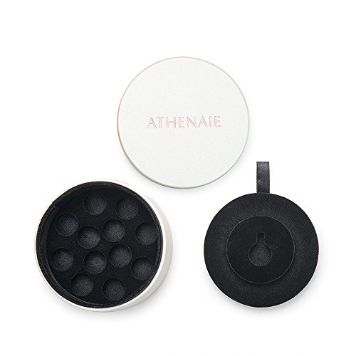 ATHENAIE Round Two Layer White PU Leather Gift Jewelry for sale  Delivered anywhere in USA