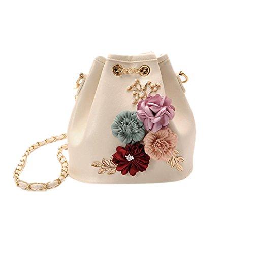 IEason bag, Women New Fashion Applique Handbag Shoulder Bags Purse Messenger Bag (White) by IEason-Bag