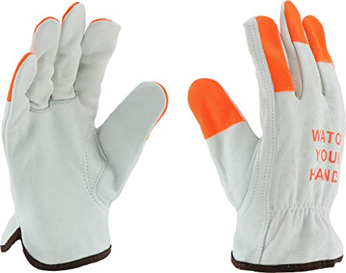 (West Chester 995KOT XL Keystone Thumb Select Grain Cowhide Driver Gloves, XL, White (Pack of 12))