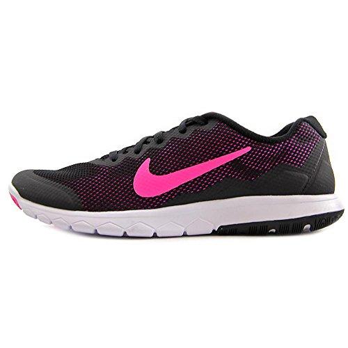 Nike Wmns Flex Experience Rn 4 - Zapatillas de running Unisex adulto Negro (Black / Pink Foil-White)