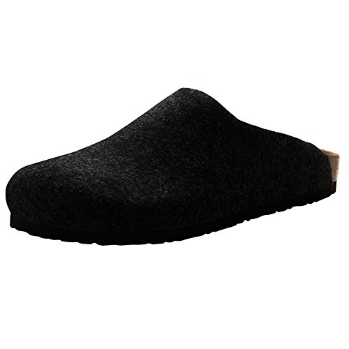 Suede Clog Microfiber (VVFamily Womens Slippers Clogs Slide Shoes Home Slip Ons Sandals (EU 38, Black))
