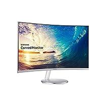 Samsung C27F591 Monitor Curvo, 27'', 1920 x 1080, 4 ms, Freesync, D-sub, HDMI, Flicker Free, FreeSync, Modalità Gioco, Bianco/Argento