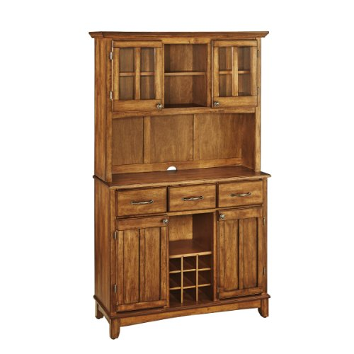 - Home Styles 5100-0066-62 Buffet of Buffets Cottage Oak Wood with Hutch, Cottage Oak Finish, 41-3/4-Inch
