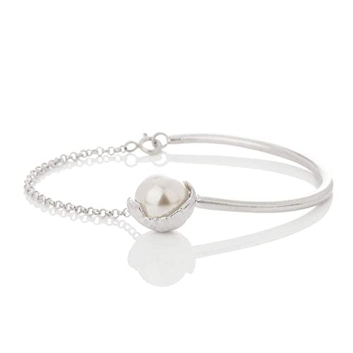 54a296bb221c59 Amazon.com  SAND Collection Half Bangle Bracelet Handcrafted in ...