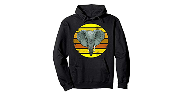 Elephant Retro Zoo Family - Sudadera con capucha ... - Amazon.com