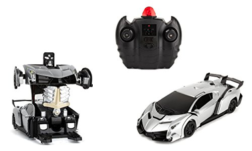 Wall-Climbing Fast Electric RC Toys Autobots Silver Transformable Robot + Remote Control - The Perfect Gift For Kids! Drives On The Wall, Ceiling and Floor (Rc Car Dollar 100)