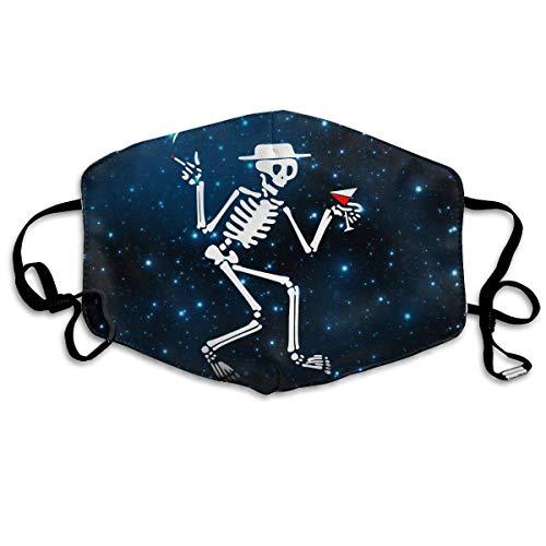 3D Dancing Skeleton Dancing On Halloween Unisex Anti Allergy Dust Mask for Travel