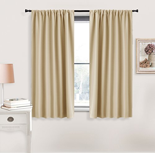 Beige Window Covering Curtain Panels - RYB HOME Decoration ( W 42