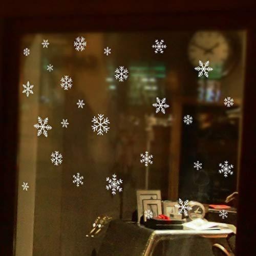 Coohole Christmas Wall Sticker Snomflake Clear Sticker Decor -
