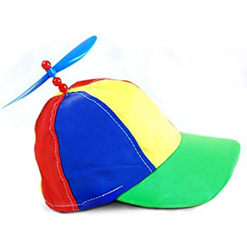 Rainbow Propeller Spinner Hat - One Size with Adjustable Hat Snap Back -  Costume Accessory - 798a843784d6