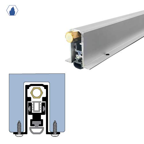 Regular Duty/Concealed Automatic Door Bottom with Silicone Bulb Seal (7053MA), SMS #6 x 1/2'' Supplied, (23/32'' W x 1-9/16'' H, 42'' L)