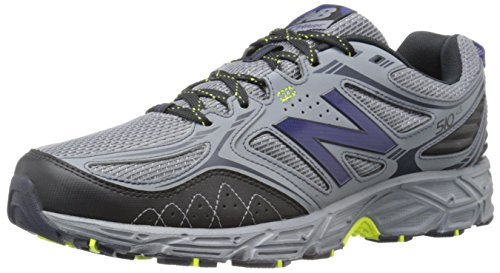 New Balance Men's 510v3 Trail Running Shoe, Grey/Yellow, 9.5 D US