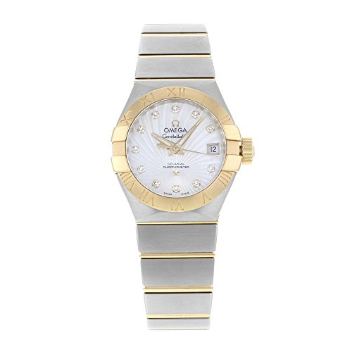 Omega Constellation Mother of Pearl Diamond Dial Steel and 18kt Yellow Gold Ladies Watch 12320272055002