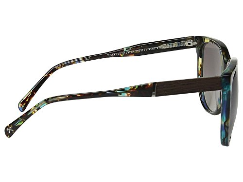 Shwood Women's Mckenzie Blue Opal/Ebony/Grey Fade Sunglasses by Shwood (Image #2)