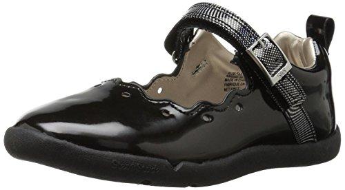 - Step & Stride Girls' Abigail Mary Jane Flat, Black, 7.5 M US Toddler