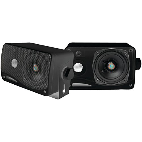 Pyle PLMR24B 3.5-Inch 200 Watt 3-Way Weather Proof Mini Box Speaker System - 1 Stock Rms