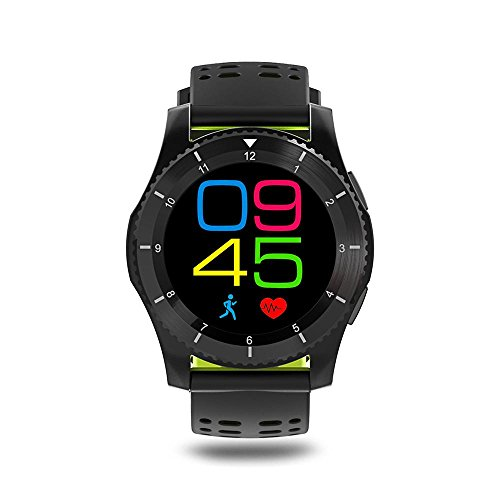 Leegoal(TM) Fashion GS8 Waterproof GPS Smart Watch Blood Pressure Heart Rate Wristwatch Support SIM Card for IOS Android (Green) by Leegoal (Image #1)
