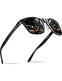 Men's Hot Retro Metal Frame Driving Polarized Wayfarer...