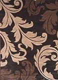 Modern Area Rug Design # H 288 Black (5 Feet 2 Inch X 7 Feet 1 Inch) For Sale