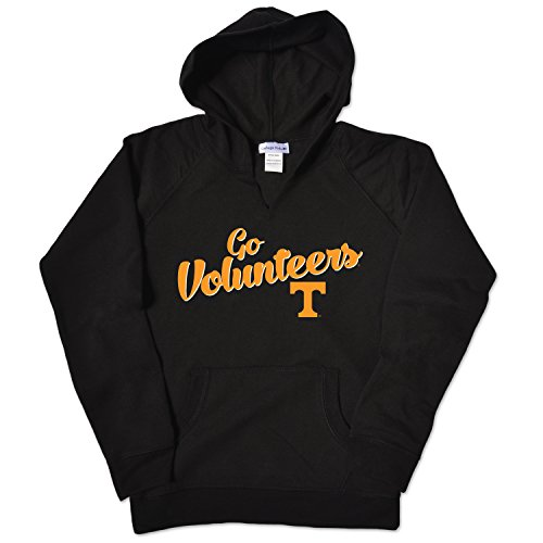 College Kids NCAA Tennessee Volunteers Girls V Neck Hoodie, Size 8-10 /Small, Oxford