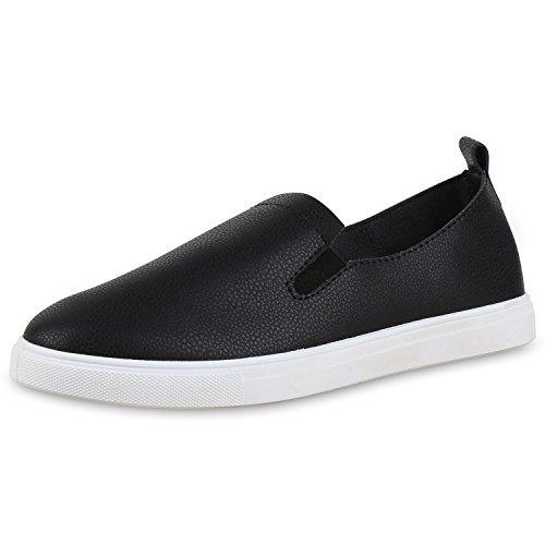 napoli-fashion Slip-Ons Damen Glitzer Slipper Metallic Sneakers Freizeit Flats Damen Sneakers Neongelb 37 Jennika o2kZU